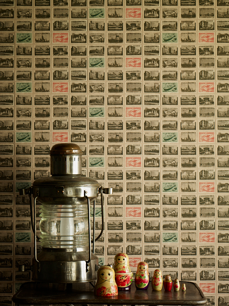 Ephemera wallpaper by Linwood Back in the USSR