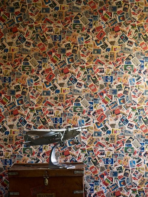 Ephemera wallpaper by Linwood Mental Bloc
