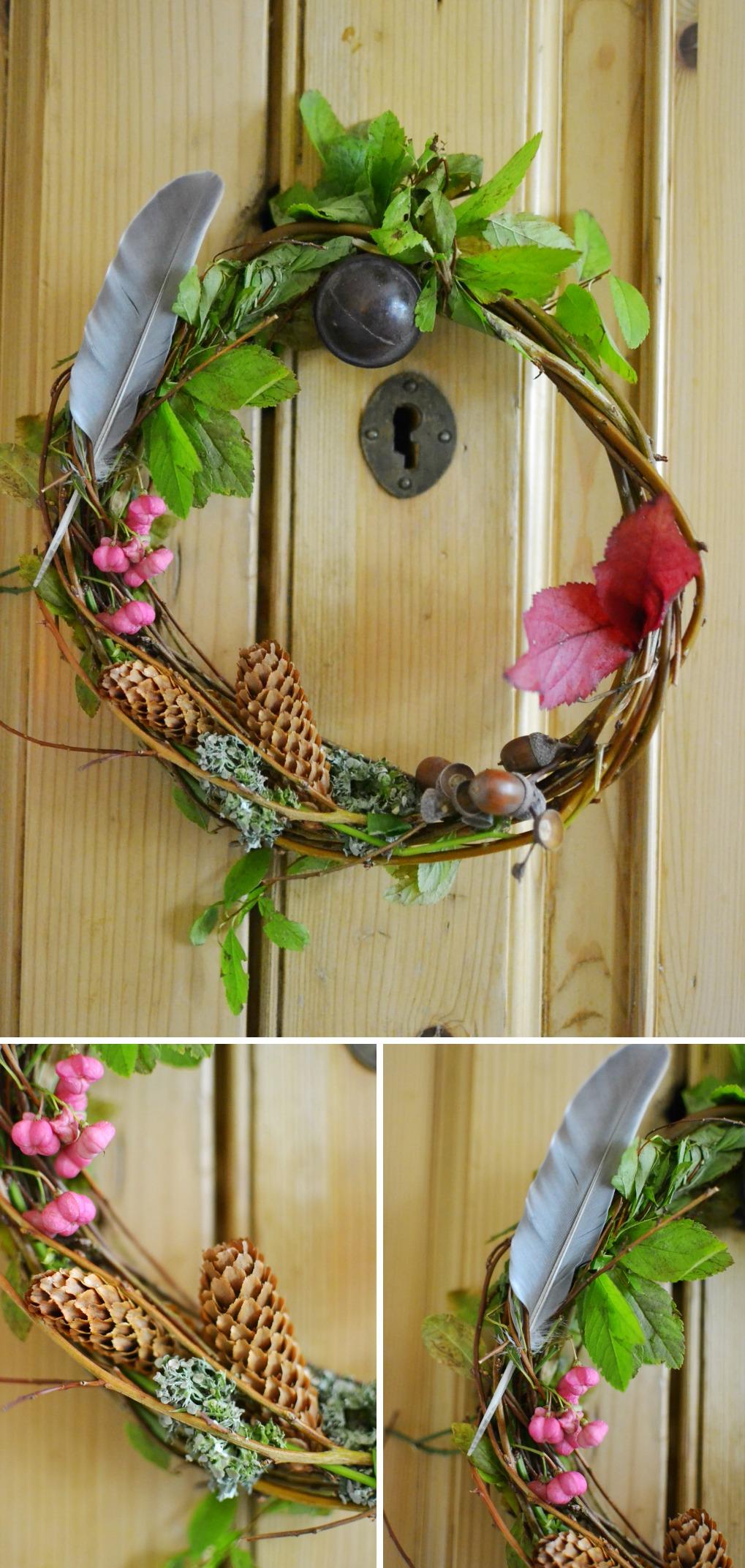 15 Minute Make Autumn Wreath Diy Decorator S Notebook