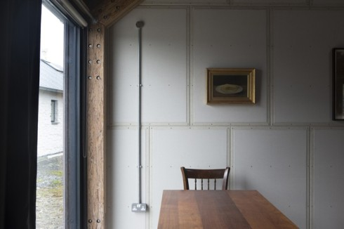 exposed plaster wall panels - Decorator's Notebook blog via Remodelista