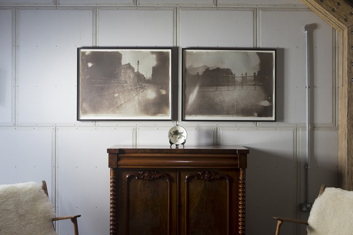 plaster panelling left exposed in new build barn - Decorator's Notebook blog via Remodelista
