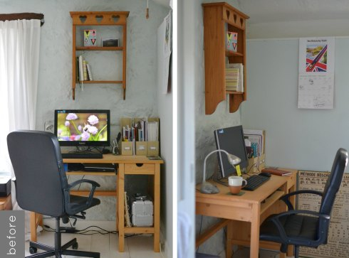 workspace makeover before