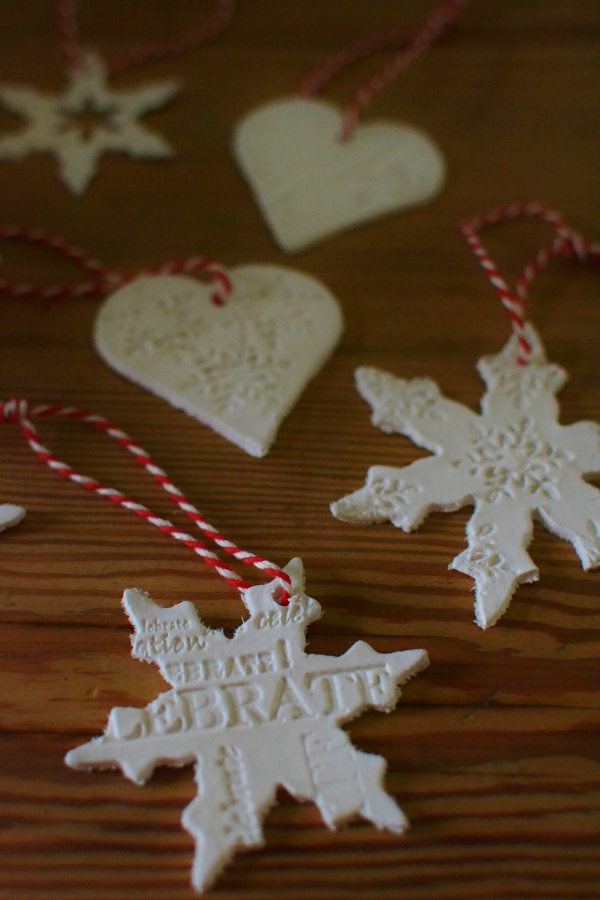 Diy air drying clay christmas tree decorations Diy christmas tree decorations