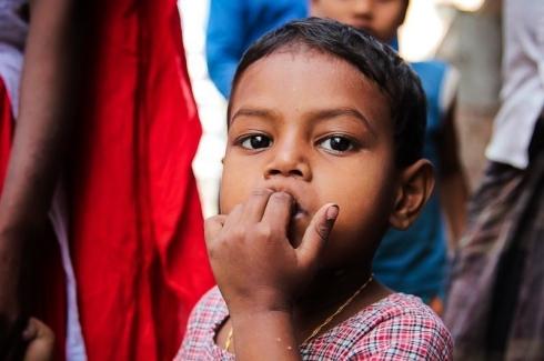 child attending Basha daycare