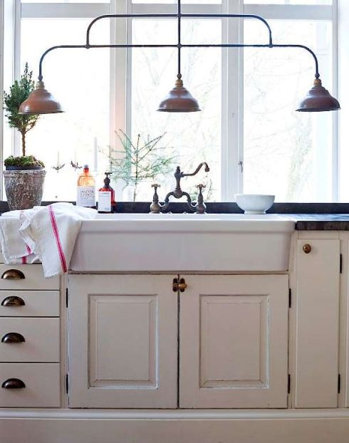 cream painted kitchen Scandinavian style