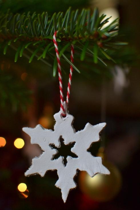 DAS clay snowflake Christmas tree decoration LR
