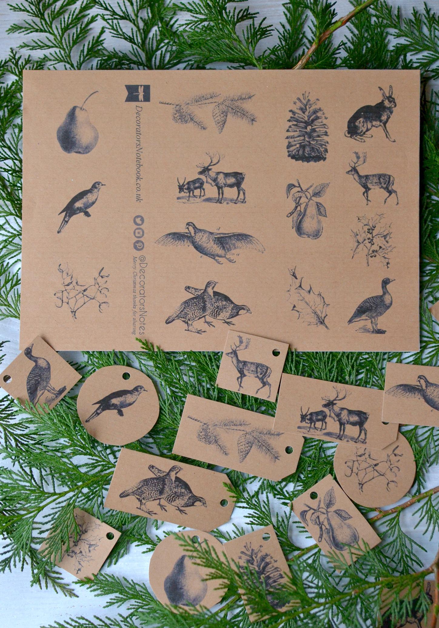 Free Printable Christmas Holiday Gift Tags 2013 Decorator S Notebook Blog