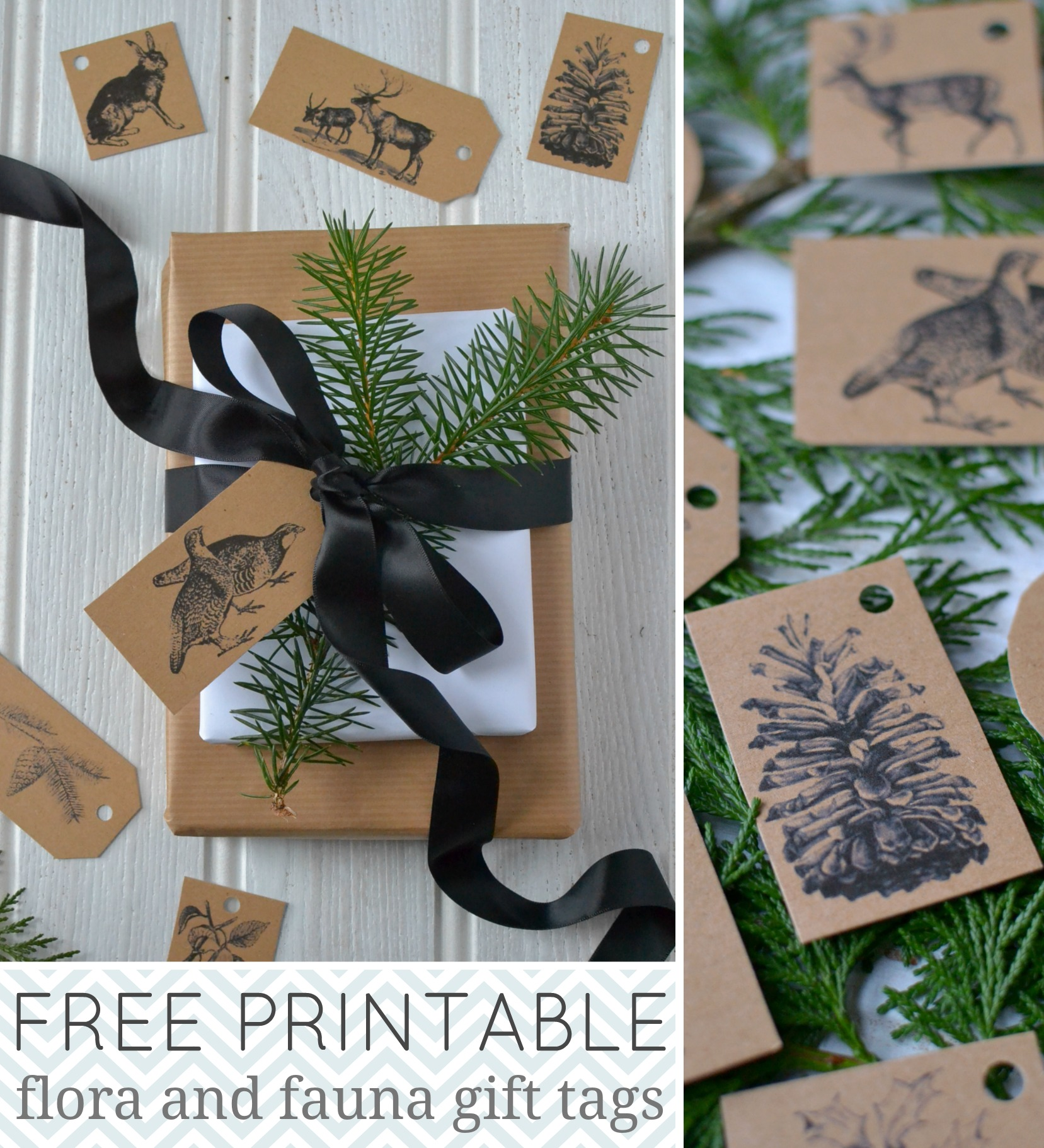 Free printable Christmas holiday gift tags from Decorator's Notebook