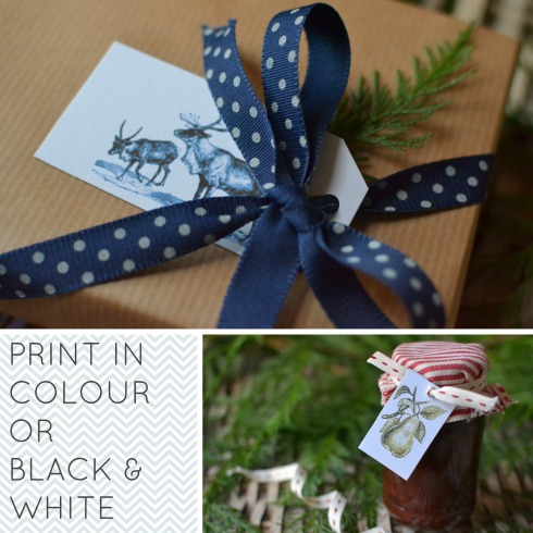 Free printable gift tags from Decorator's Notebook blog