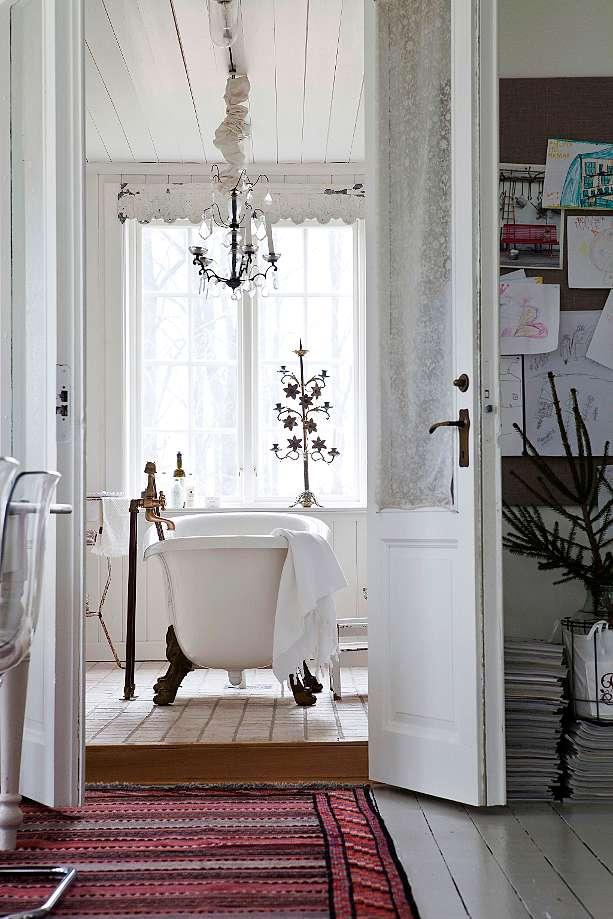 glamourous vintage bathroom