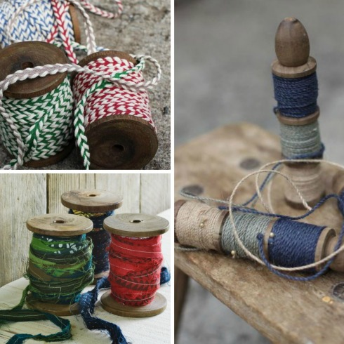 ribbons and twine from Decorator's Notebook