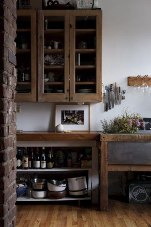 rustic kitchen with reclaimed wood
