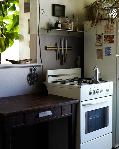 small kitchen with vintage style