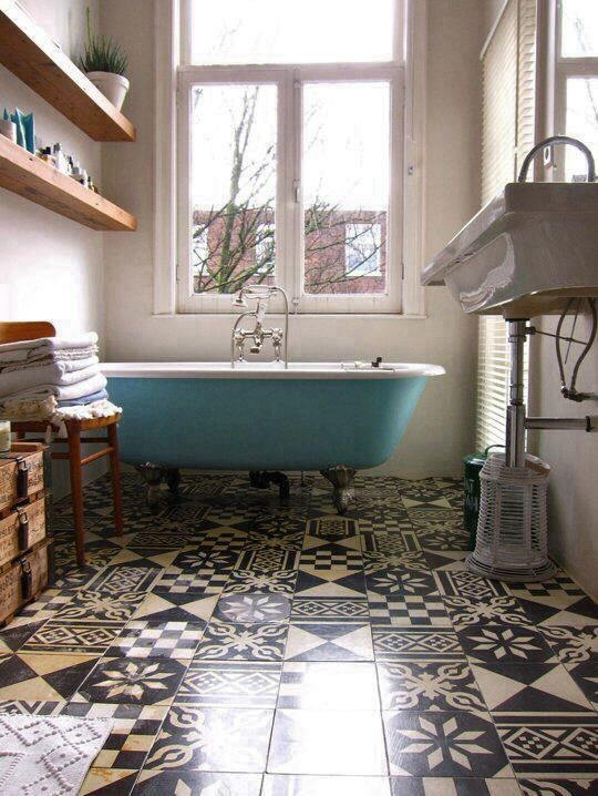 Popular  The Tile Surface Depends On The Condition Of The Floor This Is Probably One Of The Easier Parts Of Tiling Your Bathroom When You Are Doing It Without Expert Help Pick A Bathroom Tile Pattern That You Love For The New Floor Remember