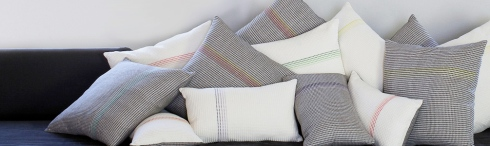 Waffle design cushions