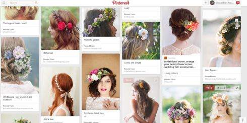 Flower crown inspiration on Pinterest from Decorator's Notebook