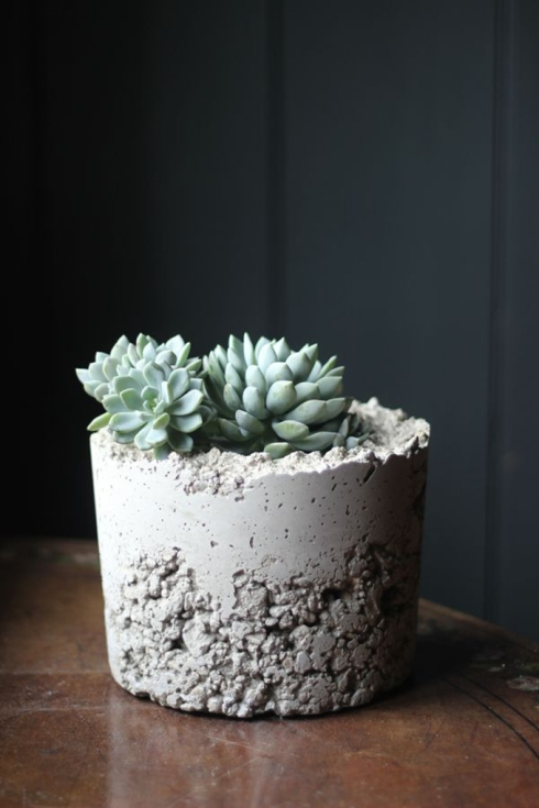 DIY concrete planter Growing Spaces blog